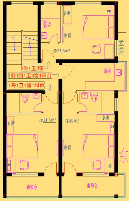 出租房12*12设计平面图