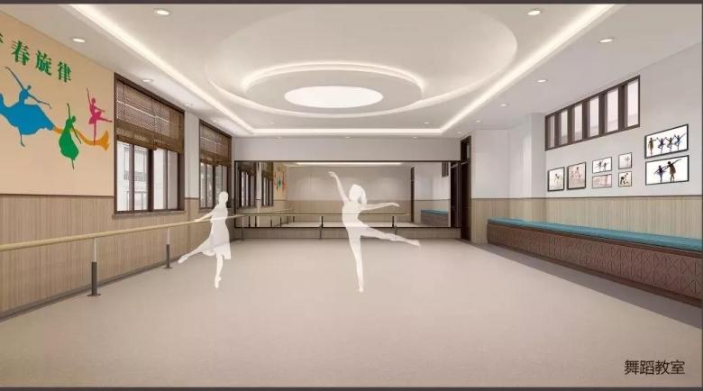 舞蹈教室效果图 小知识:樊川书院历史悠久,底蕴深厚.